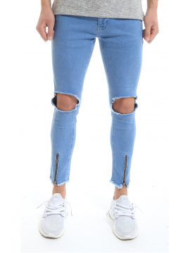 LUIGI DISTRESSED JEANS - BLUE
